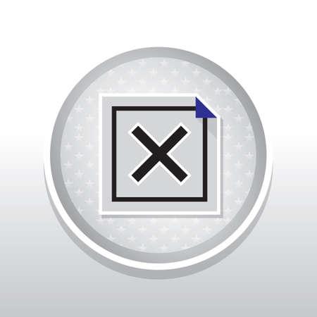 cross mark: Cross mark Illustration