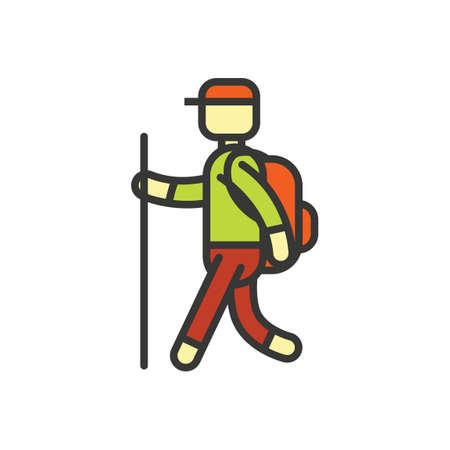 rucksack ': Mountaineer Illustration