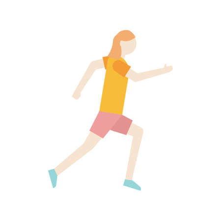 woman side view: Woman running