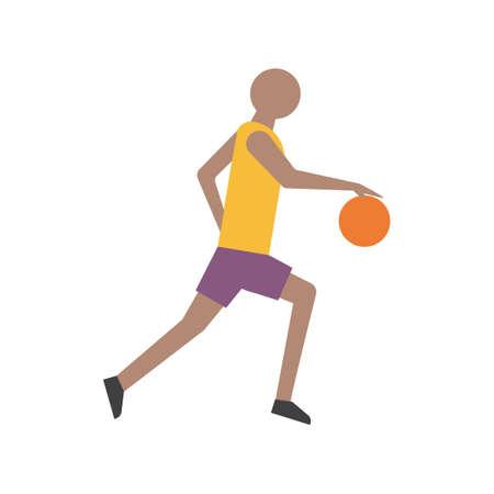 man side view: Basketball player Illustration