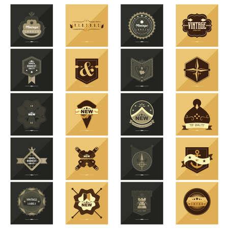finest: Set of vintage labels