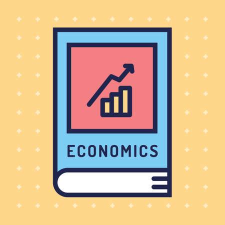textbook: Economics textbook Illustration