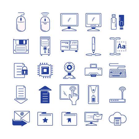 Set of computer icons Ilustração