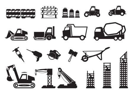 driller: Set of construction icons Illustration