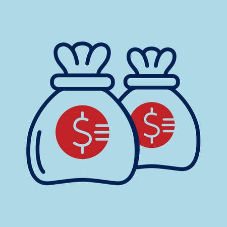 sack: Sack of money Illustration