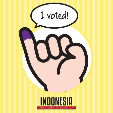 voted: Indonesia presidential election Illustration