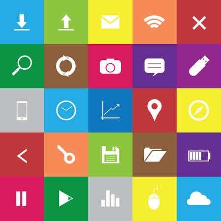 web icons: Set of web icons