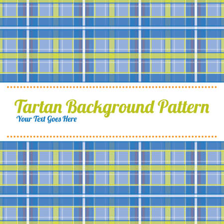 text space: Tartan patterned background with text space Illustration