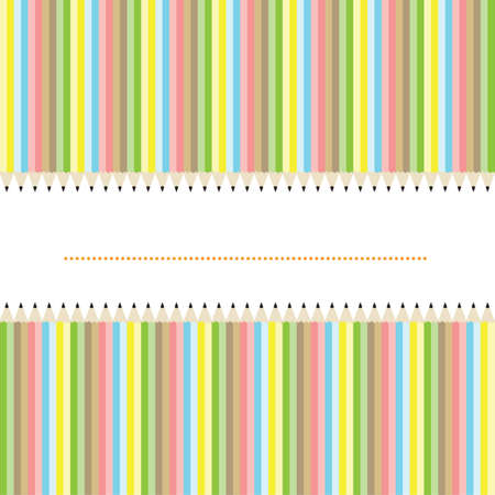 copyspace: Color pencils background with copyspace