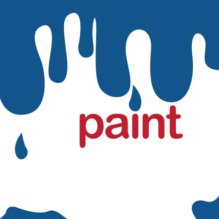 dripping paint: Dripping paint background with text