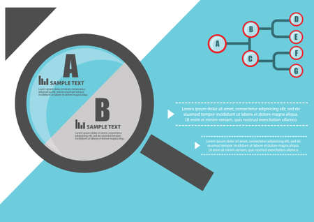 scrutiny: Magnifying glass infographic Illustration