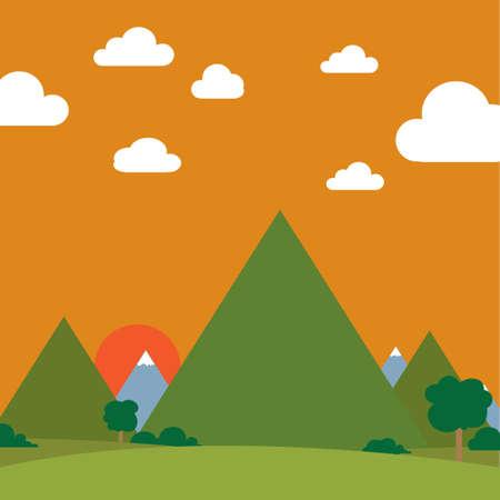 Landscape Ilustracja
