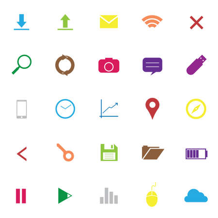 time drive: Set of web icons