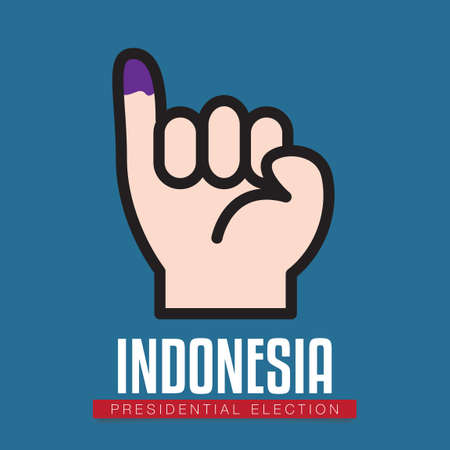 Indonesia presidential election Иллюстрация