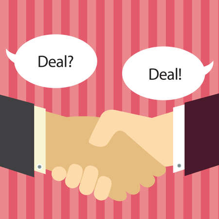 business deal: Business deal Illustration