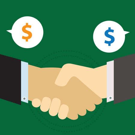 business deal: Business deal Illustration
