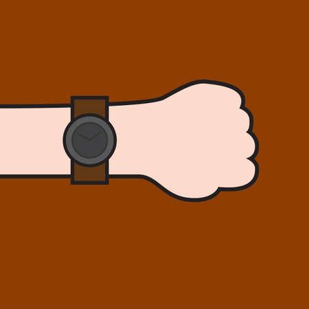 wrist: Digital wrist watch Illustration