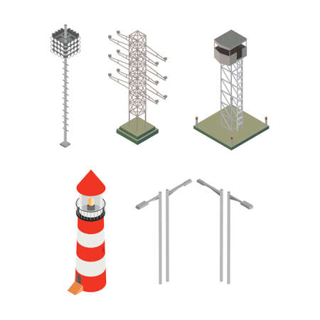 power grid: Isometric electric equipment