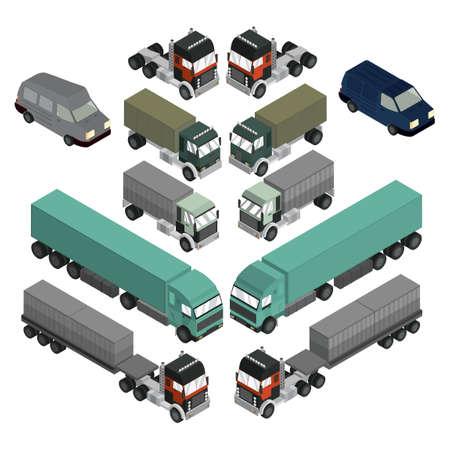 four wheel drive: Isometric vehicles