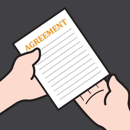 Overeenkomst papier Vector Illustratie
