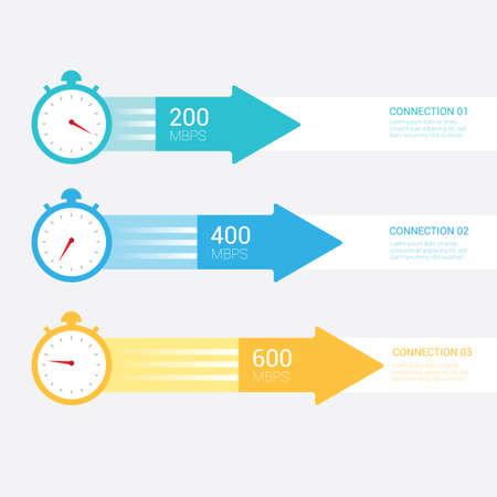 megabytes: Infographic of speed of internet Illustration