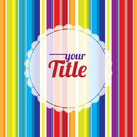 text space: Rainbow striped background with text space Illustration