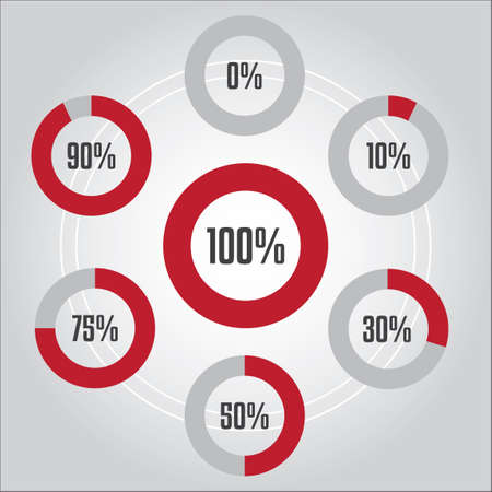 Percentages infographic
