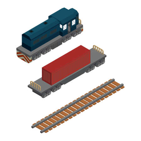 goods train: Isometric train