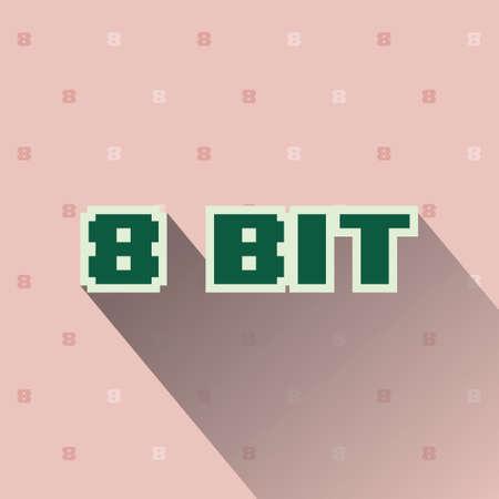 8 bit: 8 bit fondo Vectores