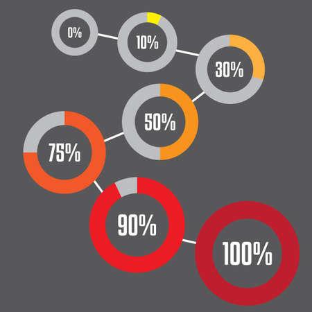 percentages: Percentages infographic Illustration