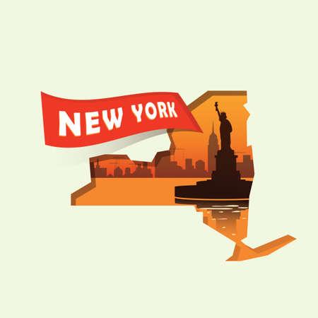 new york map: New york map Illustration