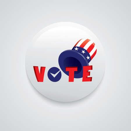 uncle: Uncle sams hat vote badge Illustration