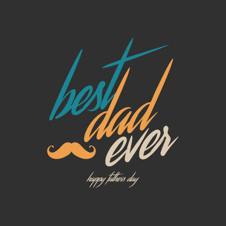 papa: Fathers day greeting card Illustration