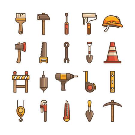 spirit level: Construction tool icons