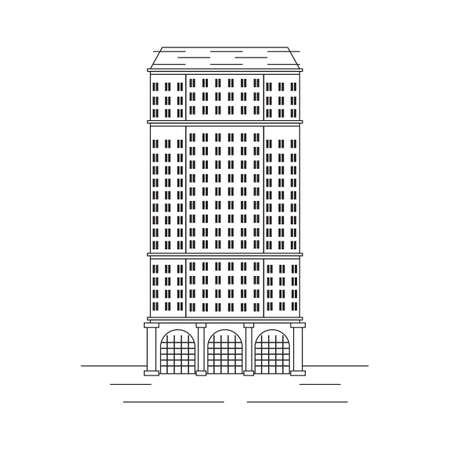 St. Regis hotel Illustration