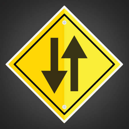 motorists: Two-way traffic sign