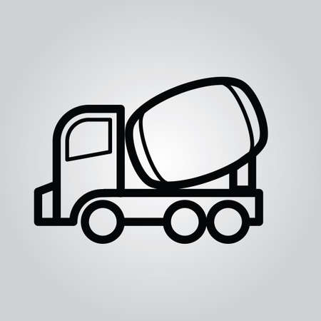 mixing: Concrete mixing truck Illustration