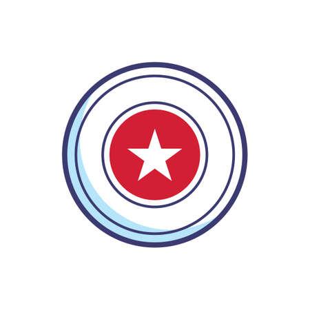 hvězda: Hvězda odznak Ilustrace