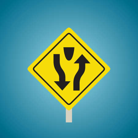 the divided: Divided highway sign
