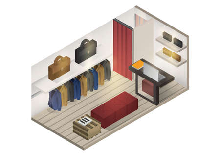 retail display: Isometric shop interior