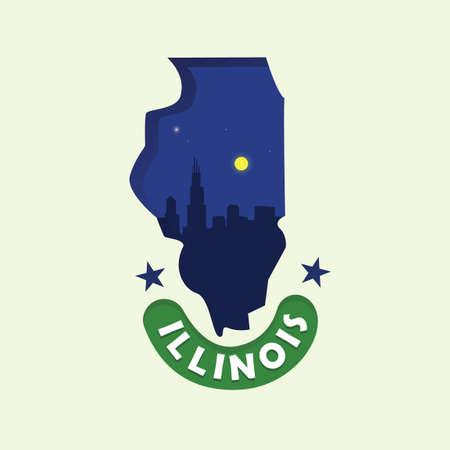 moon  metropolis: Illinois map