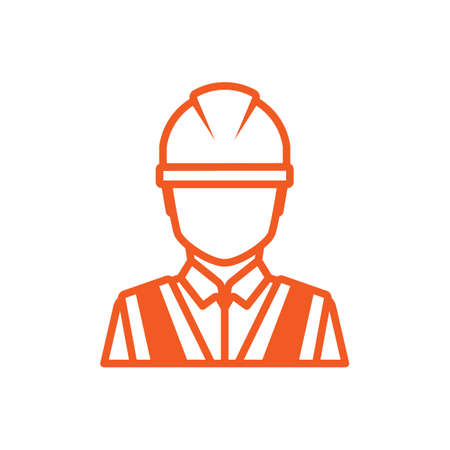 hard hat icon: Construction worker icon Illustration