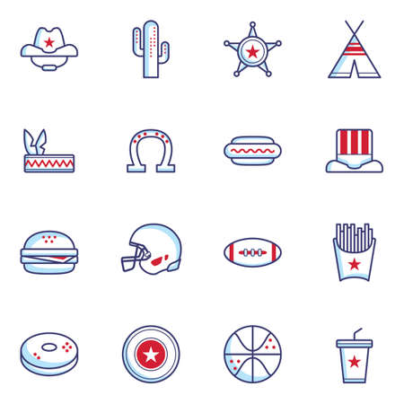tipi: Set of United States of America icons