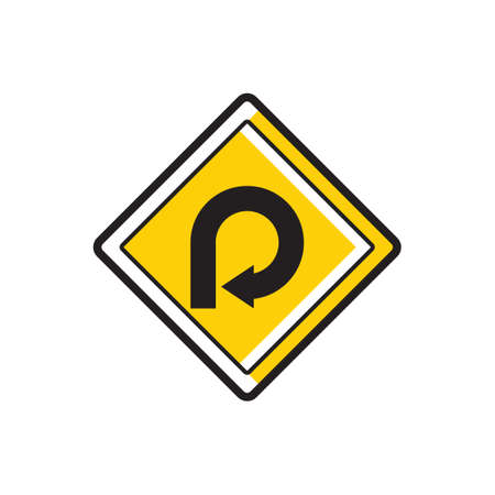 loop: 270 degree loop sign