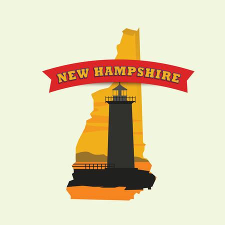 hampshire: Mapa de Nueva Hampshire