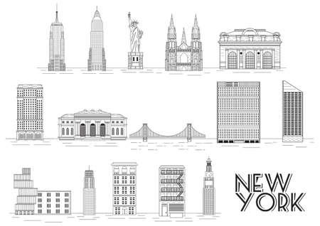 Collectie van New York attracties