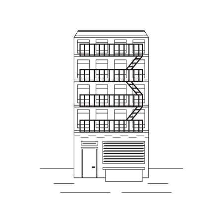 apartment building: New york apartment building