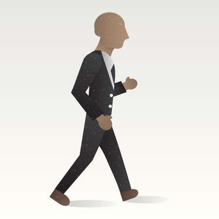 businessman walking: Businessman walking