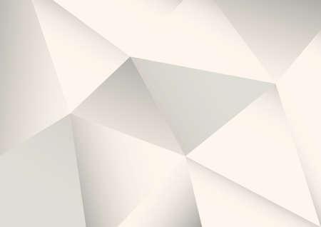 抽象的な多面的な白背景