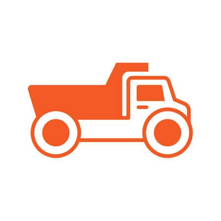 the dump truck: Icono de carro de descarga Vectores